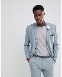 Selected Homme Slim Suit Jacket In Grey
