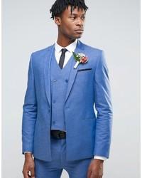 Super skinny suit jacket in blue medium 832375