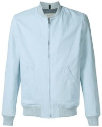 Light Blue Bomber Jacket
