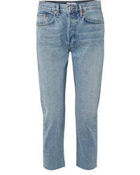 RE/DONE Cropped Mid Rise Slim Boyfriend Jeans