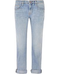 Frame Le Grand Garcon Mid Rise Boyfriend Jeans Light Denim