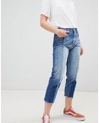 Pepe Jeans Patchy Panelled Cropped Boyfriend Jeans