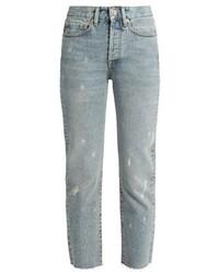 Ry unisex raw hem jeans medium 727491