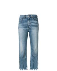 3x1 W4 Relaxed Split Crop Jeans