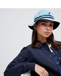 Kangol Striped Bucket Hat In Baby Blue