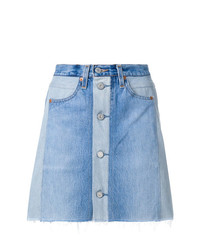 RE/DONE X Levis High Waisted Button Front Mini Skirt