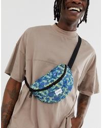 Spiral Platinum Bum Bag With Reef Design Sequins