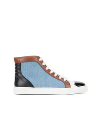 Light Blue Canvas High Top Sneakers