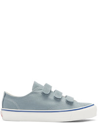 Light Blue Canvas Low Top Sneakers