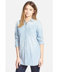Madewell Ex Boyfriend Buckley Wash Chambray Shirt