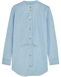 Equipment Mandel Cotton Chambray Shirt Sky Blue