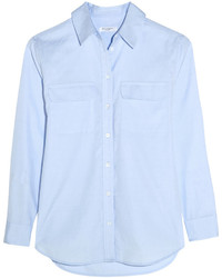 Signature cotton chambray shirt sky blue medium 420280