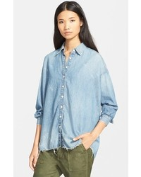 The big oversized chambray shirt medium 420282