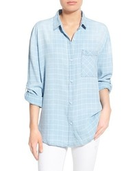 Thread Supply Frankie Check Chambray Button Front Shirt