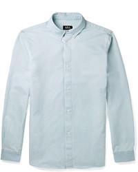 A.P.C. Button Down Collar Chambray Shirt