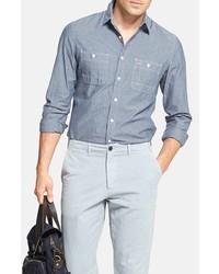 Wallin Bros Workwear Trim Fit Chambray Sport Shirt