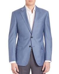Light Blue Check Blazer