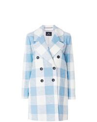Light Blue Check Coat