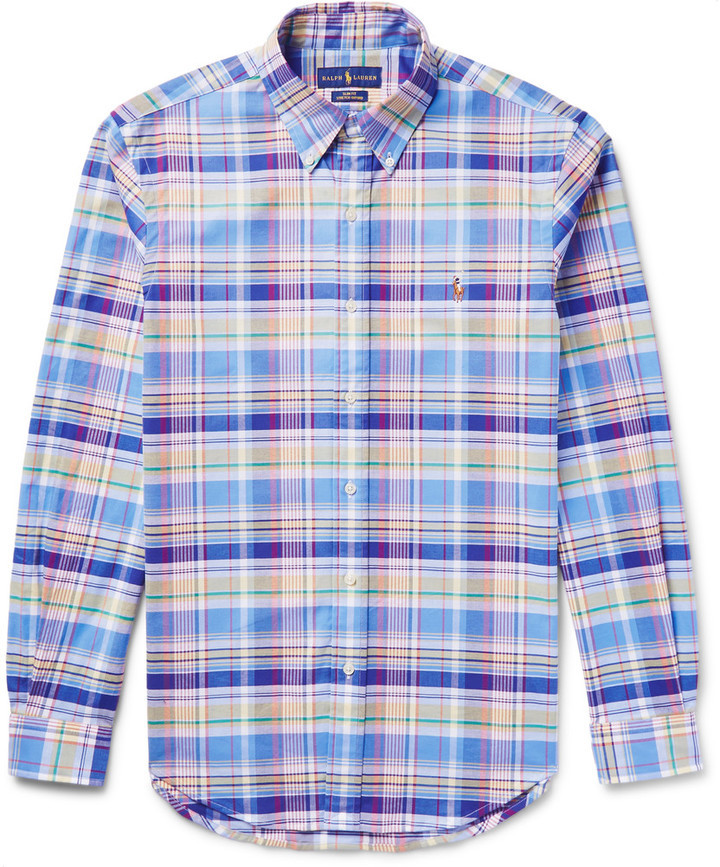 dce80948062 ... Polo Ralph Lauren Slim Fit Checked Stretch Cotton Oxford Shirt ...