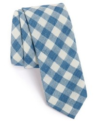Light Blue Check Tie