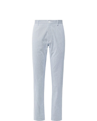 Zanella Noah Slim Fit Pinstriped Stretch Cotton Trousers