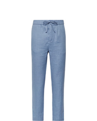 Frescobol Carioca Sandro Linen And Cotton Blend Drawstring Trousers