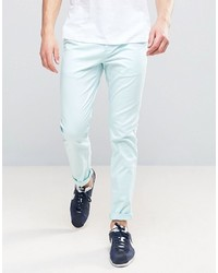 Asos Slim Chinos In Light Blue