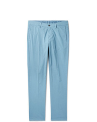 Dunhill Slim Fit Cotton Blend Poplin Chinos