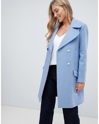 Forever New Clean Coat In Blue