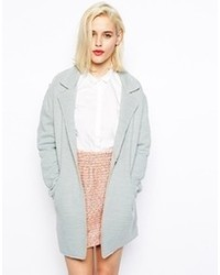 Asos Collection Coat In Texture With Raw Edge