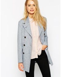 Asos Collection Summer Pea Coat In Texture