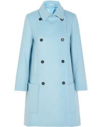 Paul & Joe Efarniente Wool Blend Felt Coat Sky Blue