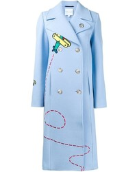 Mira Mikati Embroidered Double Breasted Coat