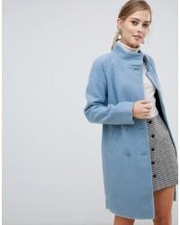 Oasis Funnel Neck Coat In Blue
