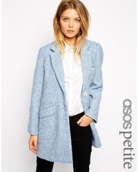 Asos Petite Slim Coat In Texture