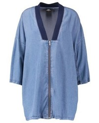 Rheba short coat mid blue medium 4000304
