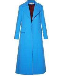 Marni Single Breasted Long Wool Coat