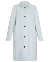 Balenciaga Single Breasted Wool Blend Coat