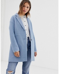 Pimkie Tailored Coat In Pale Blue