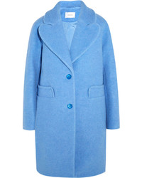Carven Wool Blend Coat Blue