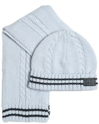 HUGO BOSS Tricot Cotton Scarf Hat