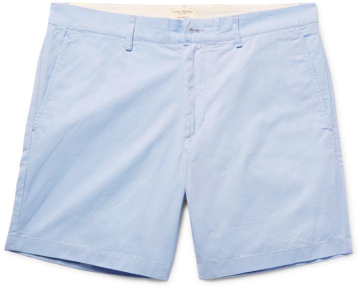 Baxter Slim-fit Stretch-cotton Twill Shorts Club Monaco T5CObgW