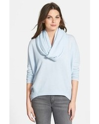 Light Blue Cowl-neck Sweater