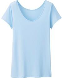 Light Blue Crew-neck T-shirt