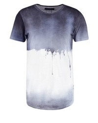 Religion Soft Drip Print T Shirt Blue