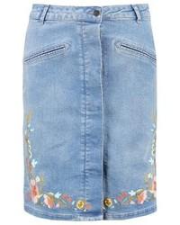 Soaked in Luxury Pixie Denim Skirt Medium Blue