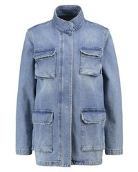 Vero Moda Vmlily Short Coat Light Blue Denim