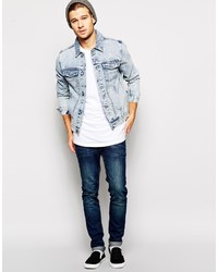 Light Blue Jean Jacket For Men - JacketIn