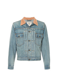 Kent & Curwen Contrast Collar Denim Jacket