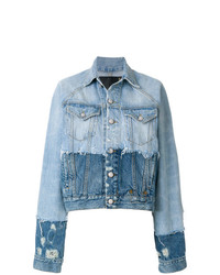 R13 Contrast Distressed Denim Jacket